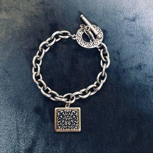 Charm bracelet (silver plated)